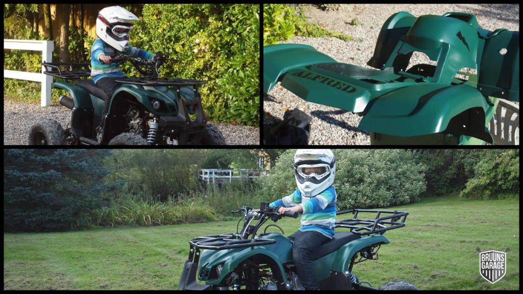 Alfred på sin ATV