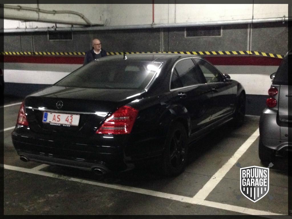 Mercedes S500 parkeringskælder