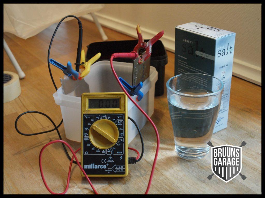 Elektrolyse forsøg uden vand